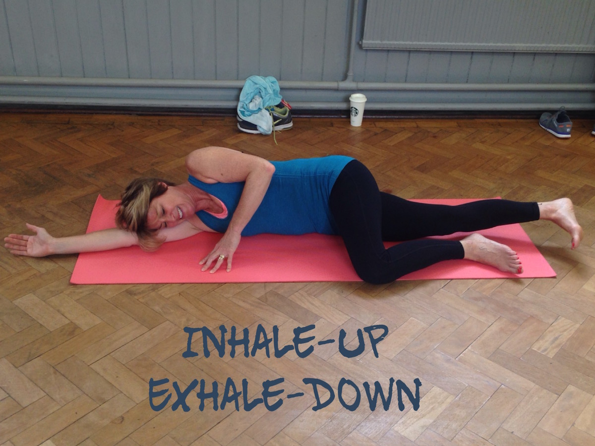 Pilates Move Sidelying Breath Quinnpilates